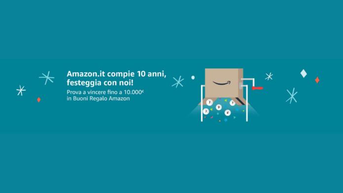 Amazon.it compie 10 anni e regala buoni Amazon