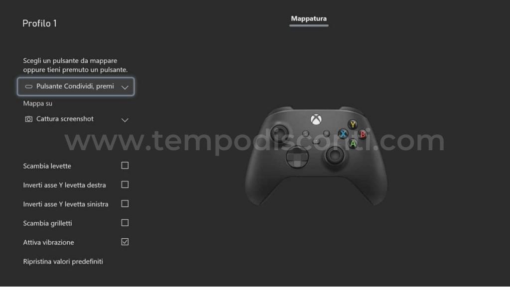 Come modificare le funzioni del pulsante Condividi su Xbox Series X o S