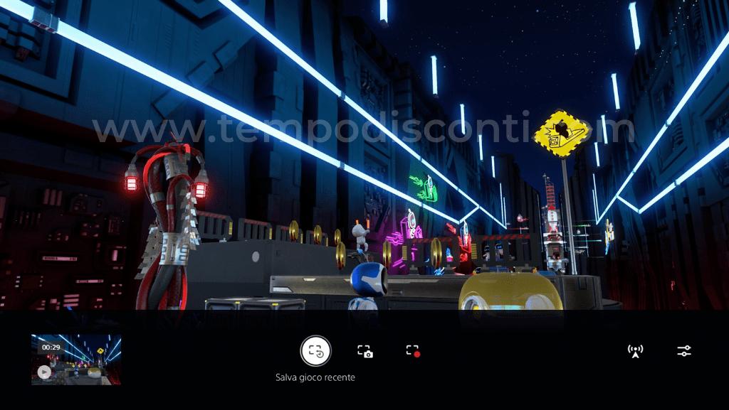 Salvataggio gameplay recente su PS5