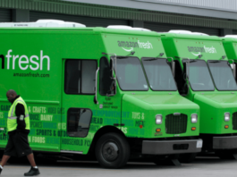 Furgoni Amazon Fresh per la Spesa a domicilio