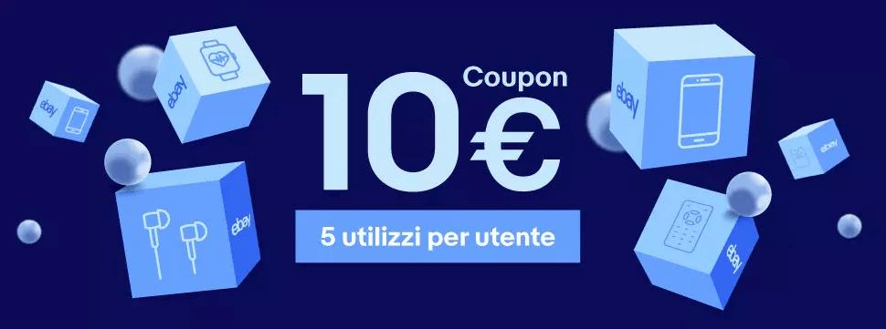 Coupon eBay 10 euro di sconto