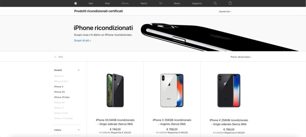 iphone ricondizionati apple